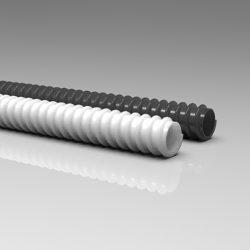 Guaina spiralata flessibile in PVC.
